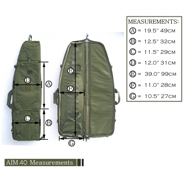 aim 40 drag bag